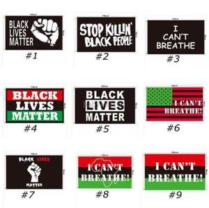DHL Ship 90x150см Черная жизнь Бизнес Баннеры Черный протест Banner Я не могу дышать флаг американского парада флаги 200 шт.