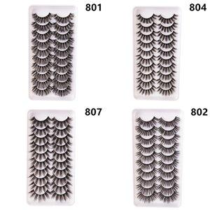 Daily Makeup Tool 10Pairs per box False Eyelashes Thick Eye Lashes Lot Bulk Item Wholesale Kit Fake