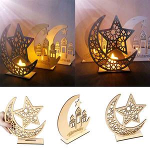 =Eid Mubarak Ramadan Wooden Plaque Ornament Muslim Islam Hanging Pendant Decor DIY Moon Home Decoration Y0224