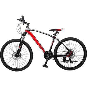 """26 """"Алюминиевый горный велосипед 24 скоростной велосипед с подвесной вилкой красный"""