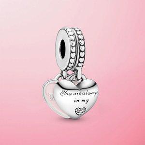 925 Sterling Silver Della Figlia Cuori Cuori Ciondolo Perle di fascino Fit Braccialetto originale Pamura Braccialetto Braccialetto Gioielli Momum Mom regalo Q0225