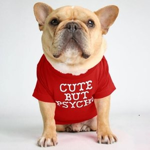 Pet Dog Clothes Puppy Cotton TurtleneckT-shirt Cat Dog Clothes T Shirt Dogs Shirt Fashion Designs Alphabet Pet Dog Clothing 12Color DWC6048