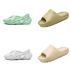 HXMDJ ZLD NUEVO Corredor de espuma Kanye West Resin Slipper Slipper Slipper Kanye Designer Sandal de alta calidad Zapatos de sandalia para hombre Black Black Dener