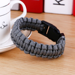 New Survival Paracord for Men Outdoor Camping Walking Gesp Pulse Band Women Touch Bracelet Men's Jewelry
