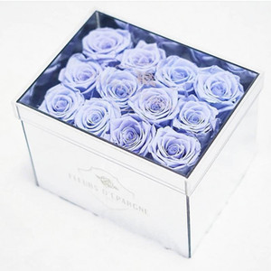 Creative Home Decor Acrylic Mirror Flower Box Customized Eternal Flower Jewelry Packaging Box Transparent Rose Gift