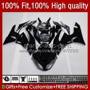 Injection Fairings For KAWASAKI NINJA 600CC black flat ZX 6R 6 R 636 600 CC 2009-2012 13No.8 ZX600 ZX636 ZX6R 09 10 11 12 ZX-636 ZX600C ZX-6R 2009 2010 2011 2012 OEM Bodys
