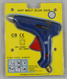 100W hot melt glue gun with switch GT-10 11mm glue stick gun hot glue gun wholesale with retail package