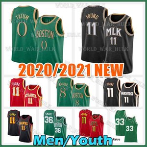 Jayson 0 Tatum Jersey Trae 11 Young Kemba 8 Walker Marcus 36 Smart Jaylen Brown De'Andre 12 Hunter Gordon Hayward Men Youth Basketball