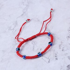 Turkish Evil Eye Protection Kabbalah Red String Bracelets Fatima Hand Jewelry 45BC