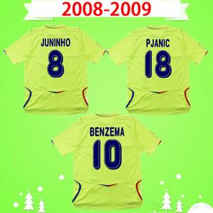 Olympique Lyonnais jersey OL Ретро Лион 2008 2009 Maillot de Foot Футбол Джерси Классический Винтаж Футбол Рубашка прочь Зеленый 08 09 Juninho Prenic Benzema Ederson Aleks