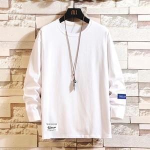 Men's Cotton Fashion T-shirt Full Sleeve Mens Summer Tshirts Male Oversized Tee Shirts 5XL Casual T Shirt Tee For Man Streetwear1