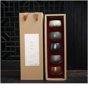 5pcs Ceramic Drinkware Teaware Chinese Kungfu Tea Set Teacup Sake Cups 50ml-100ml Master Cup Small Tea Bowls Decor jllxSu