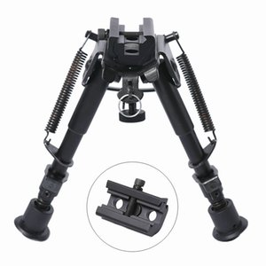 6-9 Inches UTG Tactical Rifle OP Bipod Adjustable Spring Return with Adapter Mount Hunting Accessories