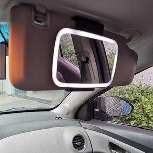 Kompakt Aynalar Araba Güneşlik LED Vanity Ayna Ko-Sürücü Noel Hediyesi