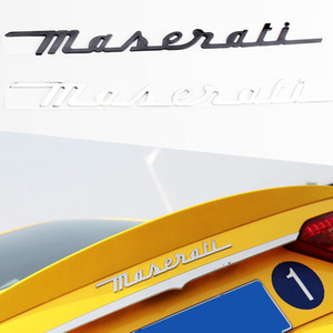 Car ABS Letters Chrome Sticker For Maserati Granturismo Quattroporte Ghibli Levante Logo Car Rear Trunk Emblem Badges Stickers