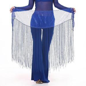 Paillette Tessal Belly Dance Hip Scarf for Women Bellydance Costume Waist Chain Belt Skirt Dance Waistband 89