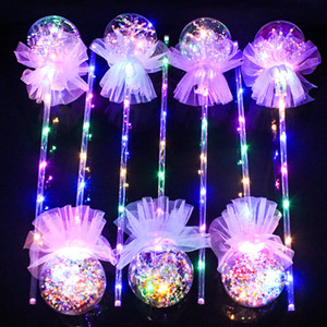 LED BOBO Light up Toys Kids Party Hand Ball Toy Glaxy Magic Wand Christmas Party Sticks Toy