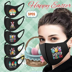 15 Styles Adults Fashion Dustproof Cotton Mouth Cover Breathable Reusable Washable Easter Facemask Women Men Rabbit Egg Mask Kimter-K567FA
