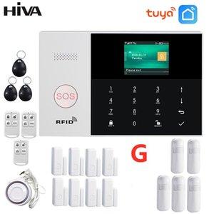 Alarm Systems WIFI GSM GPRS Wireless 433MHz Home Burglar System Support Smoke Detector IP Camera Security Kit Tuya SmartLife APP