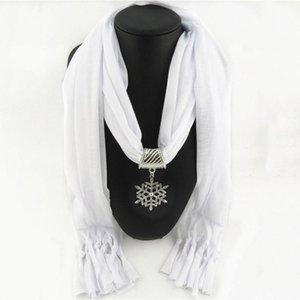 SANMAIHUA Jewelry Dichiarazione Collana Pendente Sciarpa Donne Gorgeous Neckerchief Foulard Femme Accessori Chiffon Hijabs
