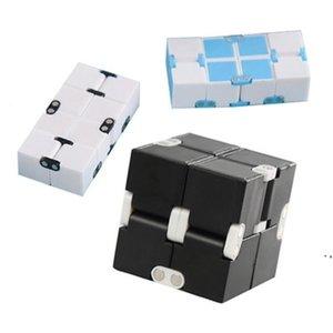 Fidget Infinity Cube Fingertips إزالة الضغط القلق لعبة الجدة وفجوة فئة العمل أو الترفيه المنزلي متعدد الألوان الخيار Magic AHF5587