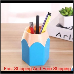 Cute Pop Creative Pen Holder Vase Color Pencil Box Makeup Brush Stationery Desk Accessories Gift Storage Supplies Dyum1 Qvidi