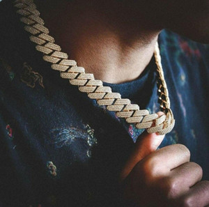 20 мм Diamond Miami Prong Cuban Link Change Choker Ожерелье Браслеты 14K Белый Золотой Звезды Ледяные Кубические Зиркония Ювелирные Изделия 7inch-24inch Кубинская цепочка