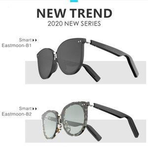 Kaixing Smart Sunglasses Unisex Hueso Conducción Bluetooth Gafas Impermeable Contestor de un solo clic Compatible con gafas de sol
