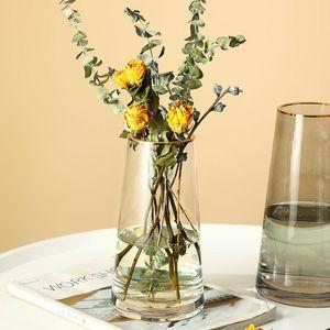زهرة زهرية للجدول الديكور كبير الزجاج المزهريات شفافة المائية تررويد الهرمية الشمال ins غرفة المعيشة زهرة الديكور