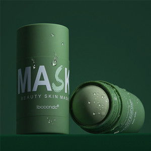 Green Tea Mask Stick Oil Control Eggplant Acne Deep Cleaning Mask Skin Care Moisturizing Remove Blackhead Fine Pores Mud Mask