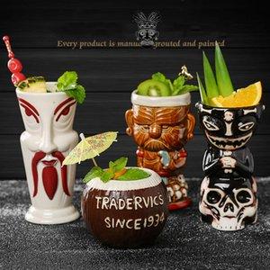 Hollywood Baby Creative Statue Human Skeleton Ceramics TIKI Mug Bar Special Wine Drinks Diy Cocktail Glass Skull Smoothi Cup