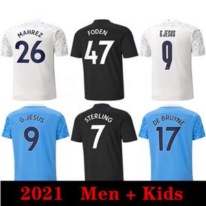 2021 Manchester Messi Jersey 10 Kun Aguero 17 de Bruyne 7 Sterling 9 g.jesus 6 Ake Football Shirts Homme Uniformes Hommes Kit Kit de football Jerseys