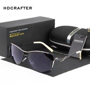Солнцезащитные очки HDCRAFTER Polarized Женщины Бренд Дизайнер Солнцезащитные Очки для Летней Озеве UV400 Вождение Феминино
