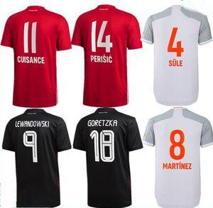 20 21 Bayern Coutinho Vidal Lewandowski Muller Robben Sule Sule Sane Home Soccer Jerseys Adulte Hommes Kit Sports Football Shirt
