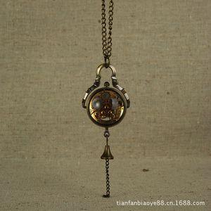 Pocket Watch Small Mechanical Ball Necklace Sweater Chain Korean UWOE