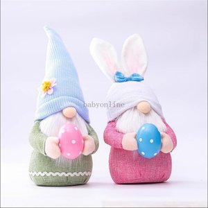 Easter Bunny Gnome Spring Gnomes Easter Faceless Bunny Dwarf Doll Rabbit Gifts Swedish Dwarf Holiday Home Decoration