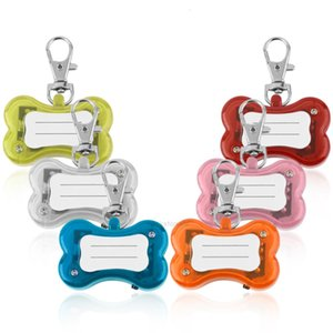 Safety Pet Dog Cat Pendant LED Flash Bone Collar Circular Light Clip Visable Popular PGJ8