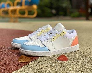 أعلى جودة دونك الرجال النساء الشباب الصبي والفتاة أحذية كرة السلة تصميم الفاخرة الكلاسيكية الملونة تقسم البيض الحلوى الترفيه الرياضة المدرب الحذاء إلحاق الأحذية