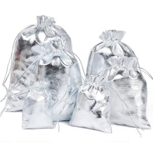 Pouches, Packaging & Display Jewelry100 Sier Plated Gauze Jewelry 7X9 Cm 9X12Cm 11X16Cm   13X18Cmjewelry Gift Pouch Bags For Wedding Favors