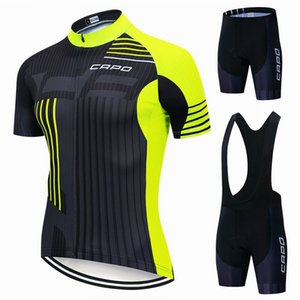 Nouveau Capo Cycling Jersey Set Shorts de Beaving Set 2021 Summer Vélo Vélo Vélo Team Anti-UV Équipe de vélo Racing Vêtements Uniformes