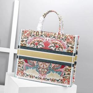 Novo Cor Top Qualidade Classic Livro Colorido Totes Bag Designer Bolsa Bordada Bordada Grande Capacidade Shopping Sacos de Viagem Nome personalizado