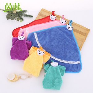 Cartoon hanging towel thickened water absorbent dishcloth kitchen dishcloth household toilet towel