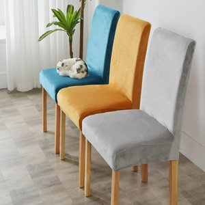 Velvet Dining stretch Chair Cover Spandex Elastic Chair Slipcover Dining Room Case for Kitchen Wedding Banquet