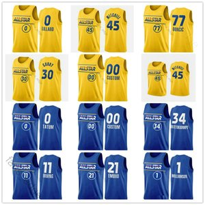 2021 All-Star Takım LeBron Basketbol Stephen James Luka Köri Doncic Nikola Giannis JOKIC Antetokounmpo Erkek Kadın Çocuk Gençlik Baskılı Formalar