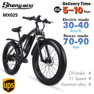 EU SHENGMILO EBIKE MX02S Vélo électrique 1000W 17AH 48V Lithium-Battery 26 pouces City Fat Tire Bicycle Vélo de montagne