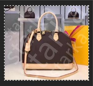 Высокое Качество ALMA BB Shell Bag Женская Сумочка Кожа Кожа Цветок Чрезмерные Сумки Сумка Crossbody Сумка Messenger Сумки с замком