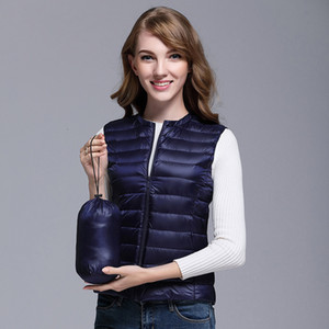 Womens Ultra Lightweight Down Gilet Packable Puffer Vest Jacket Quilted Waistcoat Insulated Body Warmer