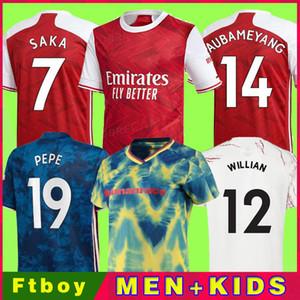 Fans Spielerversion Arsen Fussball Jersey 20 21 ODEGAARD Pepe Saka Nicolas Tierney Henry Wilian Maitland-Niles 2020 2021 Fußballhemden Kinder