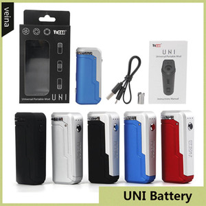 100% Original Yocan UNI Box Mod 650mAh Preheat VV Variable Voltage Battery With Magnetic 510 Adapter For Thick Oil Cartridge Authentic
