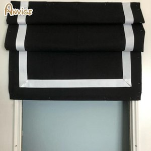 Blinds Striped Curtain Full Blackout Light Filter Roman Shades ,Easy Install Washable Curtains ,Customized Window Drape